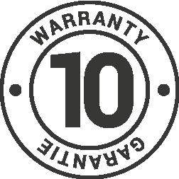 Limited 10 year warranty